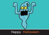 Ghost for Halloween — Stock Vector