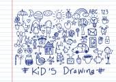 Kids and children's hand drawings  — Wektor stockowy