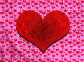 Heart drawing and valentines day hearts for your works — Stock Photo