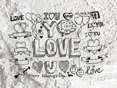 Heart drawing and valentines day hearts for your works — Stok fotoğraf