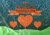 Happy Valentine's Day Greeting Card — Stock Photo