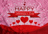 Happy Valentine's Day Greeting Card — Foto de Stock