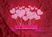Love and hearts for valentine design — Stok fotoğraf