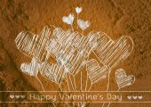 Love and hearts for valentine design — Stockfoto