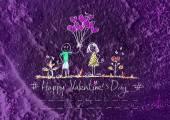 Valentine's card design background — Stock Photo