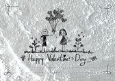 Valentinstag Karte Design-Hintergrund — Stockfoto