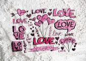 Hearts for valentine design — Stock Photo