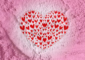 Love and hearts for valentine card — Stock Photo