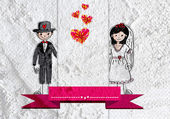 Wedding couple idea design — Stock Photo