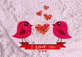 Love birds for Wedding card — Stock Photo