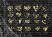 Set of valentine hearts — Stock Photo