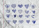Set van valentine harten — Stockfoto
