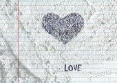Hand drawn valentine heart — Zdjęcie stockowe