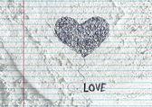 Hand drawn valentine heart — Стоковое фото