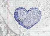 Hand drawn valentine heart — Stock Photo