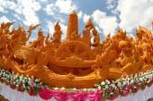 Candle Festival Thai art  Candle wax in UbonRatchathani, Thailan — Stock Photo