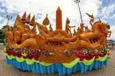 Candle Festival Thai art  Candle wax in UbonRatchathani, Thaila — Stock Photo