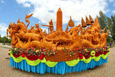 Candle Festival, Thai art  Candle wax in Thailan — Stock Photo