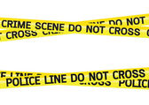 Crime scene danger tapes illustration — Stock Vector