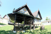 Art and line of wat kradian temple , trakanpuachphon , ubonratch — Stock Photo