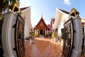 Art and line of wat tung sri wirai temple , baan cheetuan , khua — Стоковое фото
