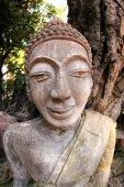 Art and line of wat tung sri wirai temple , baan cheetuan , khua — Stock Photo