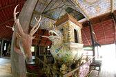Art et ligne du temple de wat sawang arom, baan cheetuan, khuangn — Photo