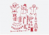 Christmas set of icons and elements — Vetor de Stock