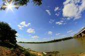Moon River UbonRatchathani, Thailand — Stock Photo