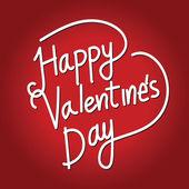 Happy Valentine's Day lettering Card , vector illustration — Stock vektor