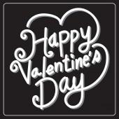 Happy Valentine's Day lettering Card , vector illustration — Διανυσματικό Αρχείο