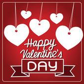 Hart voor Valentijnsdag — Stockvector
