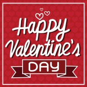 Happy Valentine's Day lettering Card , vector illustration — Stock Vector
