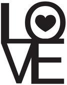 Font Type , LOVE Happy Valentines day — Stock Vector