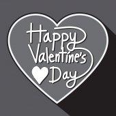 Carte de voeux Happy Valentin lettrage — Vecteur