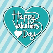 Happy Valentine's Day lettering Greeting Card — Stock Vector