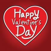 Happy valentine's day schriftzug grußkarte — Stockvektor