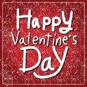 Happy Valentine's Day lettering Card — Stockvektor