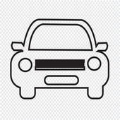 Car Icon view — Stockvektor