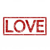 Love word  illustration — Stock Vector