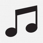 Music Note Icon — Stock Vector