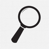 Vector illustration Search Icon — Stock Vector