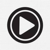 Vector illustration Play icon — Stock Vector