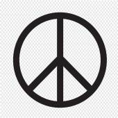 Peace sign icon — Stock Vector
