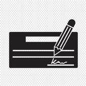 Cheque icon vector illustartion — Stock Vector