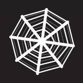 Web net spiderweb icon — Stock Vector