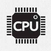 CPU icon vector illustartion — Vettoriale Stock