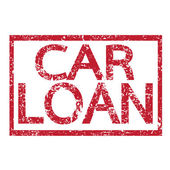 Stamp text CAR LOAN — Stock Vector
