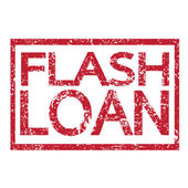 Stamp text FLASH LOAN — Stock Vector