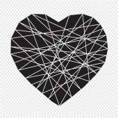 Illustration heart icon — Stock Vector